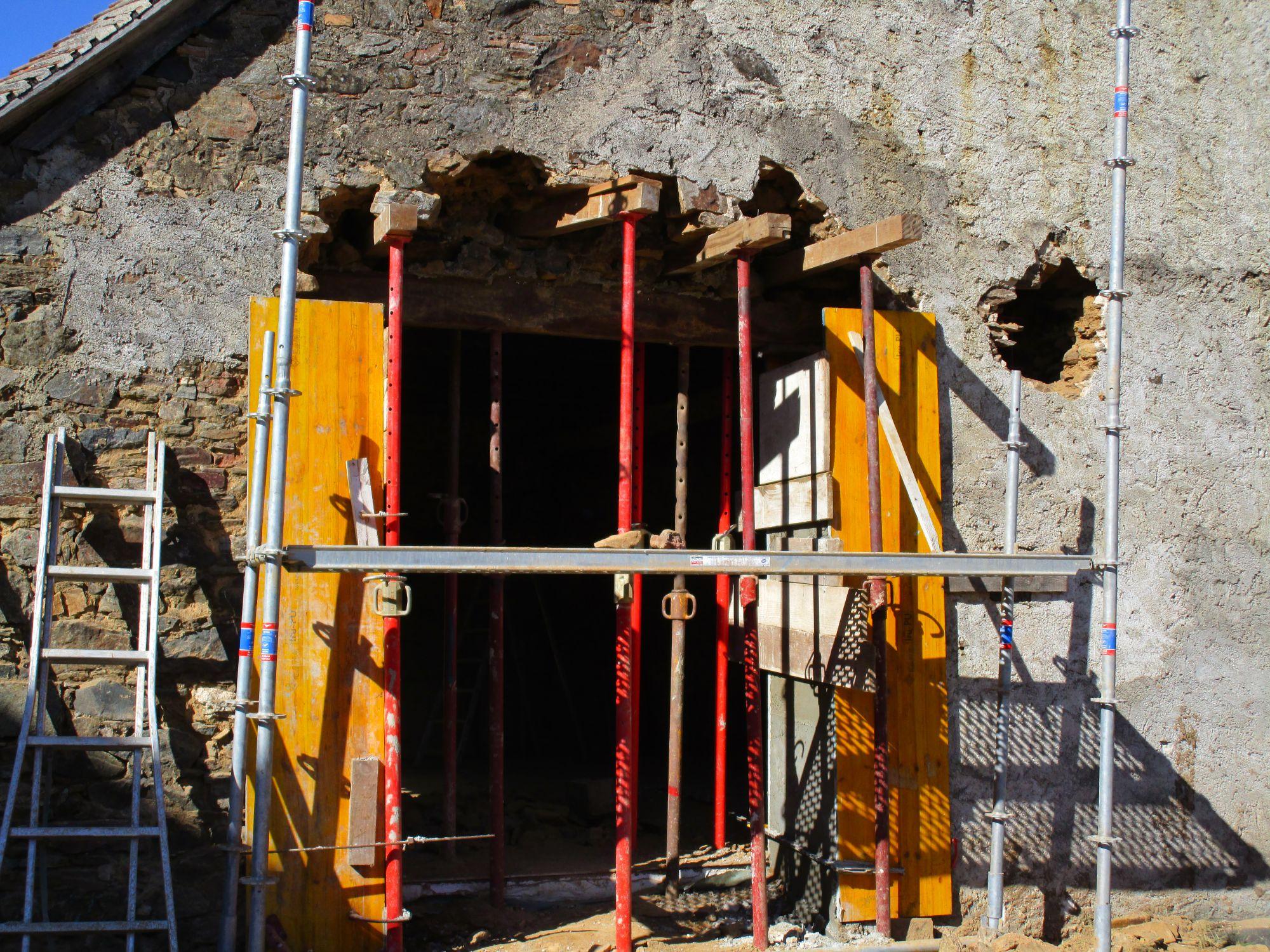 Ouverture mur en pierre 3